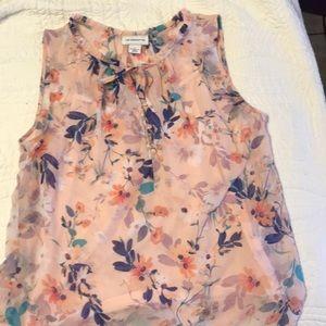 women's Liz Claiborne sleeveless blouse with cami